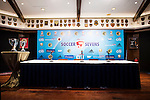 The setup of the press conference for the HKFC Citi Soccer Sevens Hong Kong 2017 at the Hong Kong Football Club on 07 February 2017 in Hong Kong, China. Photo by Victor Fraile / Power Sport Images