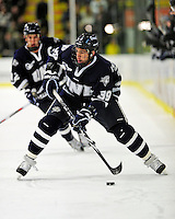 6 December 2009: University of New Hampshire Wildcats' forward Phil DeSimone, a Junior from East Amherst, NY, in action against the University of Vermont Catamounts at Gutterson Fieldhouse in Burlington, Vermont. The Wildcats defeated the Catamounts 5-2 in the Hockey East matchup. Mandatory Credit: Ed Wolfstein Photo