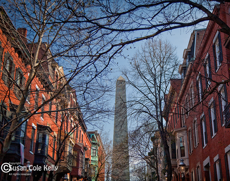 The Bunker Hill Monument on the Freedom Trail, Boston National Historical Park, Boston, MA
