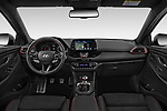 Stock photo of straight dashboard view of 2019 Hyundai i30-Fastback-N Performance-Pack 5 Door Hatchback Dashboard