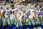 Dallas Cowboys in action during the pre-season game between the Minnesota Vikings and the Dallas Cowboys at the AT & T stadium in Arlington, Texas. Minnesota defeats the Cowboys 28 to 14.