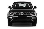 Car photography straight front view of a 2017 Volkswagen Amarok Aventura 4 Door Pick Up