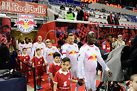Harrison, NJ - Thursday March 01, 2018: Bradley Wright-Phillips. The New York Red Bulls defeated C.D. Olimpia 2-0 (3-1 on aggregate) during a 2018 CONCACAF Champions League Round of 16 match at Red Bull Arena.