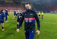 BREDA, NETHERLANDS - NOVEMBER 27: Vlatko Andonovski of the USWNT walks off the field after a game between Netherlands and USWNT at Rat Verlegh Stadion on November 27, 2020 in Breda, Netherlands.