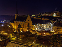 Abtei Neumünster in Grund, Luxemburg-City, Luxemburg, Europa, UNESCO-Weltkulturerbe<br /> Abbey Neumünster in Grund, Luxembourg, Luxembourg City, Europe, UNESCO world heritage