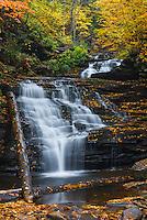 Mokican Falls on Kitchen Creek, Ricketts Glen State Park,  Pennsylvania.