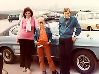BNPS.co.uk (01202) 558833. <br /> Pic: AndrewLast/BNPS<br /> <br /> Pictured: Joy, Steve, 14, and Andrew, 10, with the Capri on a family holiday in the 1970s. <br /> <br /> Pensioner Fred Last has bought back his beloved Ford Capri more than 20 years after he sold it.<br /> <br /> Fred, 92, bought the Mark One Capri from new in 1971 and it was his pride and joy for almost three decades.<br /> <br /> He regularly used the vehicle for family holidays and day trips before selling it in 1999, once his children had grown up.