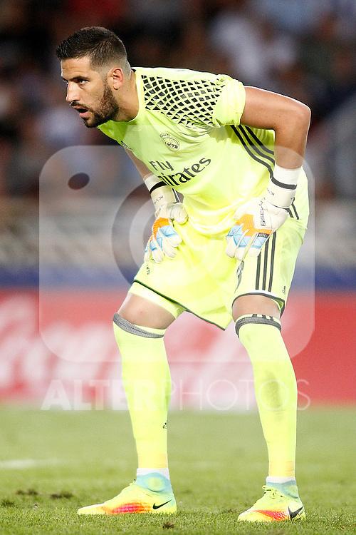 Real Madrid's Kiko Casilla during La Liga match. August 21,2016. (ALTERPHOTOS/Acero)