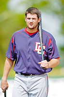 6 March 2006: Larry Broadway, first baseman for the Washington Nationals, prior to a Spring Training game against the Los Angeles Dodgers. The Nationals and Dodgers played to a scoreless tie at Holeman Stadium, in Vero Beach Florida...Mandatory Photo Credit: Ed Wolfstein..