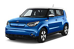2018 KIA Soul EV Base 5 Door Hatchback angular front stock photos of front three quarter view