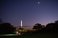 Marine One, with United States President Donald J. Trump aboard, departs the South Lawn of the White House in Washington, DC en route to New York, New York on Saturday, November 2, 2019. <br /> Credit: Erin Scott / Pool via CNP / MediaPunch