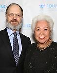 "David Hyde Pierce and Joy Abbott during The ""Mr. Abbott"" Award 2019 at The Metropolitan Club on 3/25/2019 in New York City."