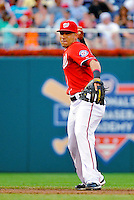 9 July 2011: Washington Nationals infielder Ian Desmond in action against the Colorado Rockies at Nationals Park in Washington, District of Columbia. The Nationals were edged out by the Rockies 2-1, dropping the second game of their 3-game series. Mandatory Credit: Ed Wolfstein Photo
