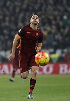 Roma's Kostas Manolas runs for the ball during the Italian Serie A football match between Juventus and Roma at Juventus Stadium.