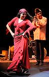 TZIGANE IMAGINAIRE<br /> <br /> Mise en scène : ZELWER Jean Marc<br /> Collaboration artistique : ZIMINA Youlia<br /> Compositeur : ZELWER Jean Marc<br /> Lumière : MERAT Pascal<br /> Avec :<br /> ROVIRA SALAT Nuria : Chorégraphies Danse Chant<br /> BAILECHE Louisa : Chant Danse<br /> GILIS Mirabelle : Violon<br /> MAINDIVE Pierre : Contrebasse<br /> MAITRA Shyamal : Tablas<br /> RIGOPOULOS Pierre : Percussion Zarb Piano jouet<br /> ZELWER Jean Marc : Accordéon Santour Nyckelharpa<br /> Lieu : Théâtre Jean Vilar<br /> Cadre : Année France Russie 2010<br /> Ville : Suresnes<br /> Le : 08 10 2010<br /> © Laurent PAILLIER / www.photosdedanse.com <br /> All Rights reserved