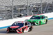 #95: Christopher Bell, Leavine Family Racing, Toyota Camry Rheem, #18: Kyle Busch, Joe Gibbs Racing, Toyota Camry Interstate Batteries