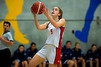 Action from the 2019 Schick AA Girls' Secondary Schools Basketball Premiership National Championship match between Sacred Heart Girls' College New Plymouth and St Andrew's College at the Central Energy Trust Arena in Palmerston North, New Zealand on Monday, 30 September 2019. Photo: Dave Lintott / lintottphoto.co.nz