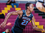 Basketball players from across Texas and surrounding states play hard during the Fantasy of Lights Basketball tournament held at Midwestern State University in Wichita Falls, Texas.