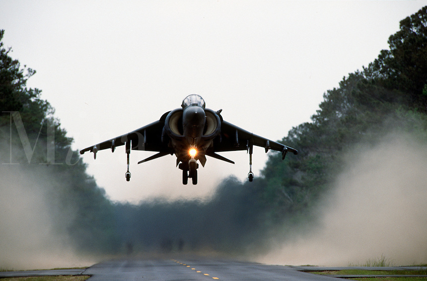 U.S. Marines, AV-8 Harrier 2 Plus aircraft, Camp Lejeune, North Carolina..