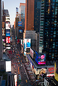 New  York, New York<br /> Times Square<br /> April 24, 2015<br /> <br /> New York City Times Square at dusk.