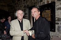 May 7, 2007 File Photo -  <br /> <br /> Gilles Vigneault (L)<br /> Claude Dubois (R) DUOS Album launch at Auberge Saint-Gabriel in Old-Montreal, May 7, 2007.