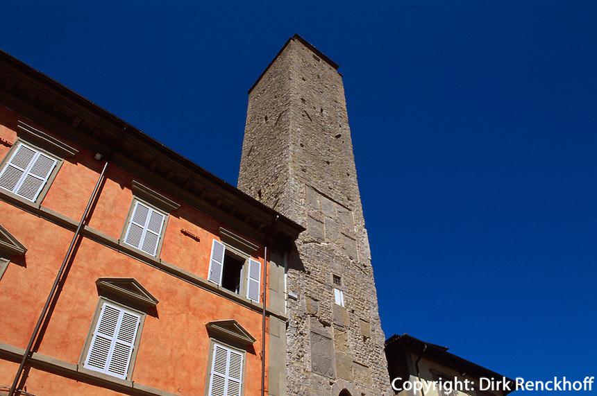Italien, Umbrien, Torre Civica in Citta di Castello