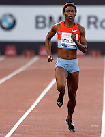 Golden Gala di atletica leggera allo stadio Olimpico di Roma, 6 giugno 2013.<br /> Botswana's Amantle Montsho runs on her way to win the women's 400 meters race at the Golden Gala IAAF athletics meeting at Rome's Olympic stadium, 6 June 2013.<br /> UPDATE IMAGES PRESS/Isabella Bonotto