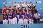 The U-12 Junior Cup Final, part of the HKFC Citi Soccer Sevens 2017 on 28 May 2017 at the Hong Kong Football Club, Hong Kong, China. Photo by Marcio Rodrigo Machado / Power Sport Images