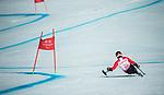 Kurt Oatway, PyeongChang 2018 - Para Alpine Skiing // Ski para-alpin.<br /> Kurt Oatway skis in the super combined // Kurt Oatway skis dans le super combiné. 13/03/2018.