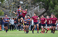 Kings College 1st XV v De La Salle, De La Salee, Saturday 4 July 2020. Photo: Simon Watts/www.bwmedia.co.nz