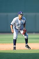 Wilmington Blue Rocks shortstop Jack Lopez (11) on defense against the Winston-Salem Dash at BB&T Ballpark on July 6, 2014 in Winston-Salem, North Carolina.  The Dash defeated the Blue Rocks 7-1.   (Brian Westerholt/Four Seam Images)