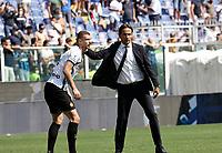 12th September 2021; G.Ferraris Stadium, Genoa, Italy; Serie A football, Sampdoria versus Inter Milan; Dzecko of Inter Milan and manager Inzahgi