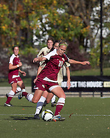 Florida State midfielder/forward Janice Cayman (20) passes the ball. Florida State University defeated Boston College, 1-0, at Newton Soccer Field, Newton, MA on October 31, 2010.