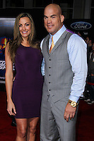 """HOLLYWOOD, CA - MARCH 06: Amber Miller, Tito Ortiz at the Los Angeles Premiere Of DreamWorks Pictures' """"Need For Speed"""" held at TCL Chinese Theatre on March 6, 2014 in Hollywood, California. (Photo by Xavier Collin/Celebrity Monitor)"""