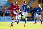 St Johnstone v Rangers…..23.02.20   McDiarmid Park   SPFL<br />Nikola Katic and Callum Hendry<br />Picture by Graeme Hart.<br />Copyright Perthshire Picture Agency<br />Tel: 01738 623350  Mobile: 07990 594431