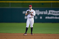 Indianapolis Indians first baseman Will Craig (25) during an International League game against the Columbus Clippers on April 29, 2019 at Victory Field in Indianapolis, Indiana. Indianapolis defeated Columbus 5-3. (Zachary Lucy/Four Seam Images)