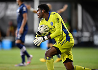LAKE BUENA VISTA, FL - JULY 26: Sean Johnson of New York City FC during a game between New York City FC and Toronto FC at ESPN Wide World of Sports on July 26, 2020 in Lake Buena Vista, Florida.