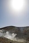ITA, Italien, Sizilien, Liparischen Inseln, Insel Vulcano: austretende Schwefeldaempfe am Krater Gran Cratere | ITA, Italy, Sicily, Aeolian Islands or Lipari Islands, Vulcano Island: erupting sulphur steam at crater Gran Cratere