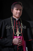 Monsignor Georg Gänswein private secretary to Pope Benedict XVI during The last time general audience in St. Peter square at the Vatican, Wednesday. February 27, 2013