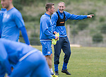 St Johnstone Training…12.05.17<br />Steven Anderson and Chris Millar pictured during training today ahead of tomorrow's game against Partick Thistle<br />Picture by Graeme Hart.<br />Copyright Perthshire Picture Agency<br />Tel: 01738 623350  Mobile: 07990 594431