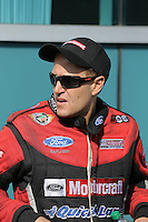 Mar. 17, 2013; Gainesville, FL, USA; NHRA funny car driver Bob Tasca III during the Gatornationals at Auto-Plus Raceway at Gainesville. Mandatory Credit: Mark J. Rebilas-