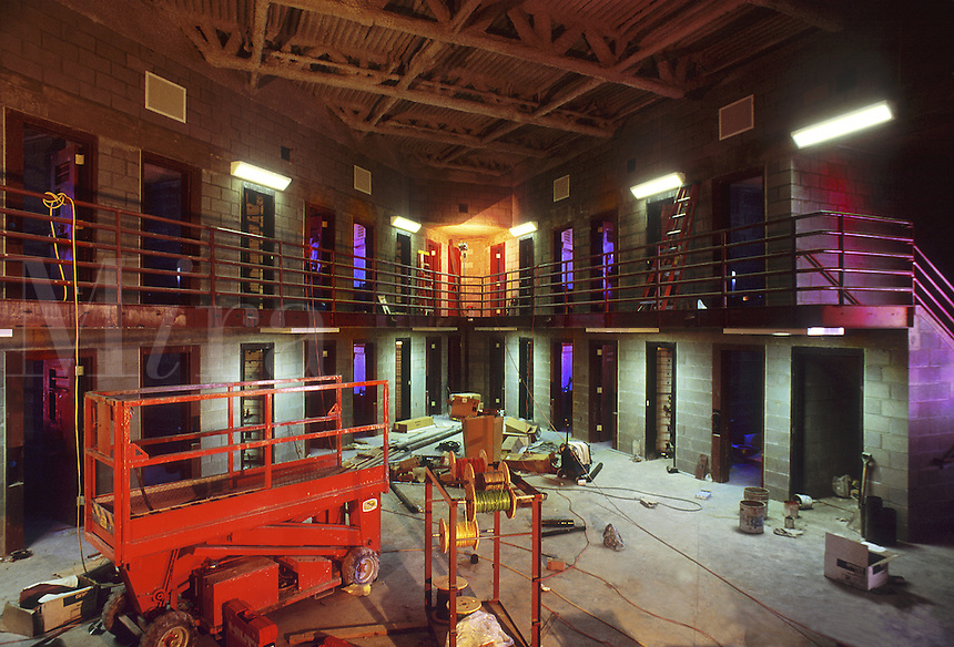 New prison construction in the Western United States, interior. Western United States.