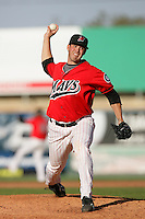 April 18, 2010: Steve Richard of the High Desert Mavericks during game against the Lake Elsinore Storm at Mavericks Stadium in Adelanto,CA.  Photo by Larry Goren/Four Seam Images