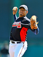 8 March 2011: Atlanta Braves pitcher Jair Jurrjens in action during a Spring Training game against the New York Yankees at Champion Park in Orlando, Florida. The Yankees edged out the Braves 5-4 in Grapefruit League action. Mandatory Credit: Ed Wolfstein Photo