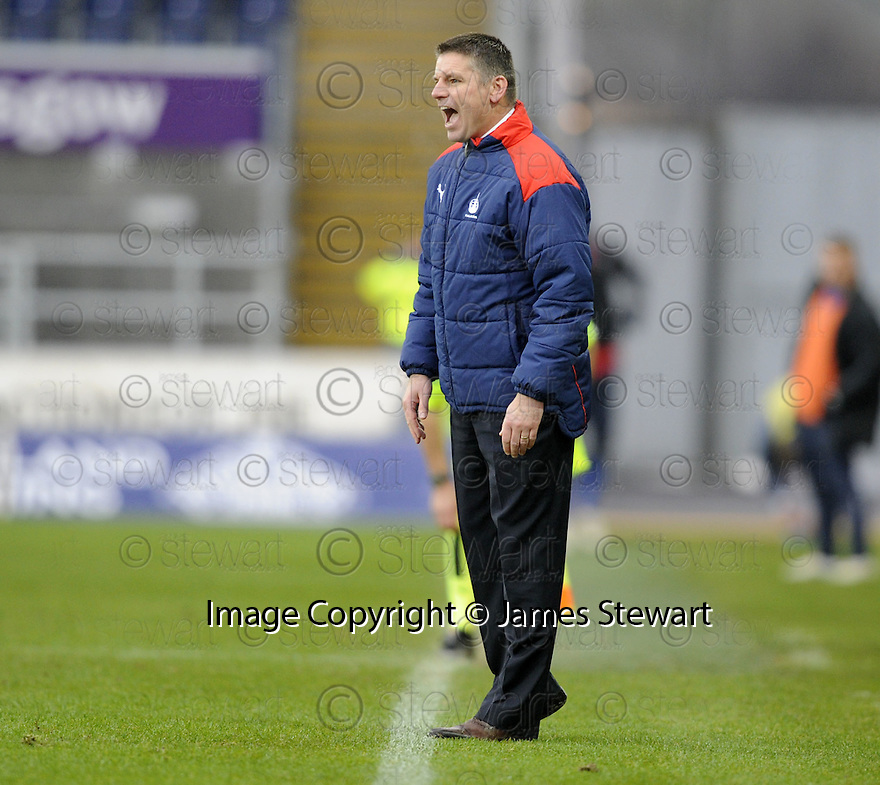 05/12/2009  Copyright  Pic : James Stewart.sct_jspa31_falkirk_v_rangers  . :: FALKIRK MANAGER EDDIE MAY SHOUTS HIS INSTRUCTIONS :: .James Stewart Photography 19 Carronlea Drive, Falkirk. FK2 8DN      Vat Reg No. 607 6932 25.Telephone      : +44 (0)1324 570291 .Mobile              : +44 (0)7721 416997.E-mail  :  jim@jspa.co.uk.If you require further information then contact Jim Stewart on any of the numbers above.........