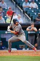 Lehigh Valley IronPigs third baseman Damek Tomscha (47) at bat during a game against the Buffalo Bisons on June 23, 2018 at Coca-Cola Field in Buffalo, New York.  Lehigh Valley defeated Buffalo 4-1.  (Mike Janes/Four Seam Images)