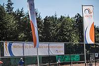 Etten-Leur, The Netherlands, August 23, 2016,  TC Etten, NVK,  KNLTB Banner and flaggs<br /> Photo: Tennisimages/Henk Koster