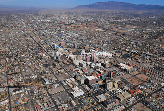 aerial view of downtown Albuquerque