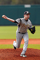 Purdue Boilermakers pitcher Sean Collins #37 delivers a pitch during a game against the Notre Dame Fighting Irish at the Big Ten/Big East Challenge at Al Lang Stadium on February 19, 2012 in St. Petersburg, Florida.  (Mike Janes/Four Seam Images)