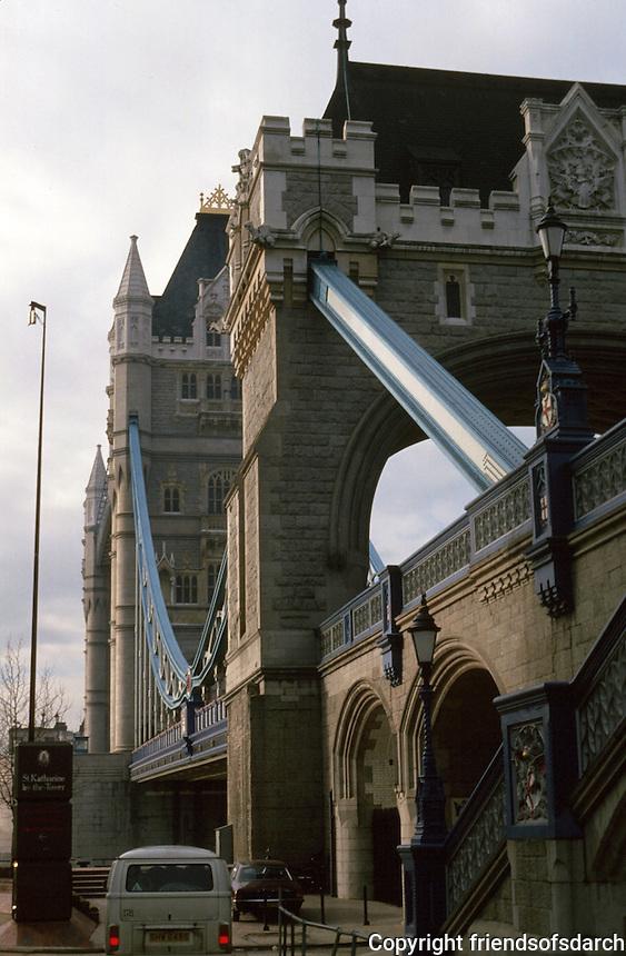 London:  London Tower Bridge from northeast.  Photo 2005.